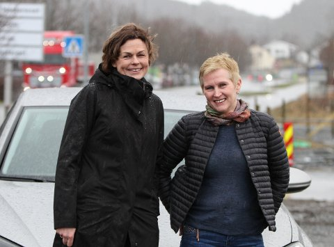 Pendlarane Kari Melheim Ottesen og Gro Utkilen.