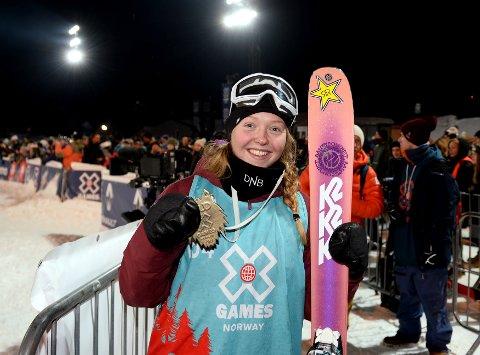 Johanne Killi med gullet fra X Games i Hafjell. Hun er med på det norske landslaget kommende sesong.