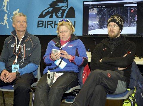 Nå kan ledelsen i Birkebeinerrennet glede seg over topptre-plassering i Ski Classics. Fra venstre: Olaf Johan Thomasgaard, Sølvi Amundsen Aas og Anders Karlsten.