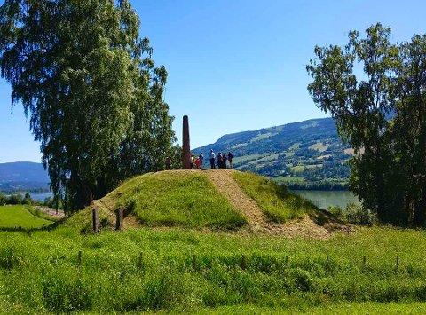 Dette er Olavshaugen på Dale-Gudbrands gard. Her håper arkeologene på å finne noen skjulte skatter.