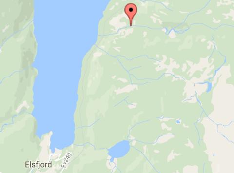 ELSFJORD: Illustrasjonskart over Elsfjord-området. Stedsangivelsen i kartet har ingenting med strømbruddet å gjøre.
