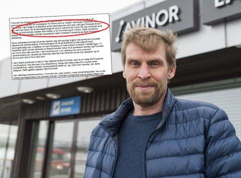 «ERNA-BREVET»: Jo Inge Hesjevik (H) tar kraftig avstand fra brevet Ragnhild Vassvik skrev til Erna Solberg. – Hun signerte selv avtalen, sier han.