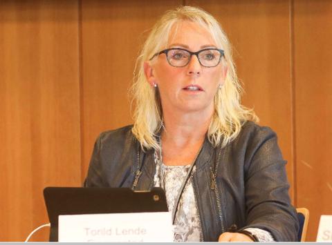 JA TIL 28: Kommunedirektør Torild Lende Fjermestad i Klepp vil at kommunen skal ta imot 28 flyktningar neste år. Vedtaket om 28 skal ikkje inkludera familiesameinte eller ha andre atterhald.
