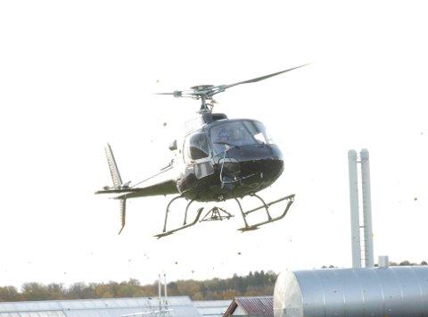 ØVELSE: Forsvaret øver med helikoptere i Holmestrand torsdag kveld. Illustrasjonsfoto