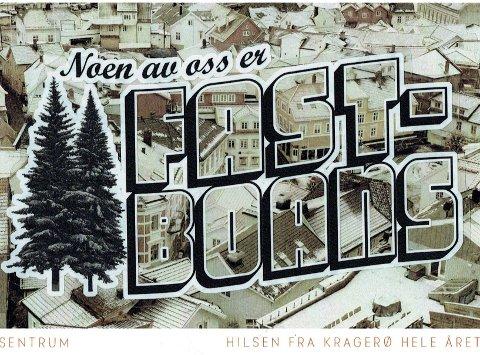 Idyll: Daniel Theodor Jangmar Paulsen skriver blant annet om «Kragerøidyllen» i dagens lørdagskronikk. Foto: Postkort av Marius Sætersdal