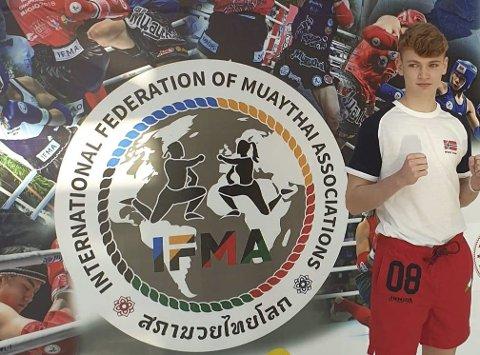 VANT: Oliver Mathias Hansen vant åpningskampen i junior-VM.