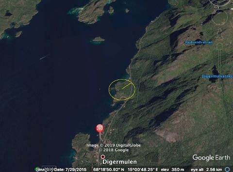 Store planer: Det planlegges et nytt reiselivsanlegg i dette området i Digermulen.