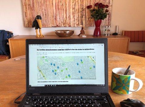 TI SKJERMTIPS: Nysgjerrig på hvem som blir din nye nabo eller om en utbygger gikk seirende ut av budrunden? Sjekk boligpriskartet på noblad.no