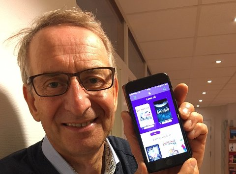 NY APP: Med denne appen, Bookbites, kan bibliotekbrukere i Troms laste ned e-bøker til sin mobiltelefon eller nettbrett. Biblioteksjef i Tromsø, Paul Henrik Kielland, sier Bookbites kommer til å gi e-boklesere en bedre opplevelse - selv om appen har hatt litt innkjøringsproblemer.
