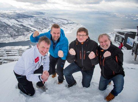 Fra venstre: Elling Berntsen (Sparebanken Narvik), Petter Høiseth (SpareBank 1 Nord-Norge), Tore Karlsen (Harstad Sparebank) og Sigve Stokland (Ofoten Sparebank).