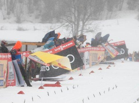 Uvær under  prologen sprint klassisk i Oberstdorf. Foto: Terje Pedersen / NTB scanpix