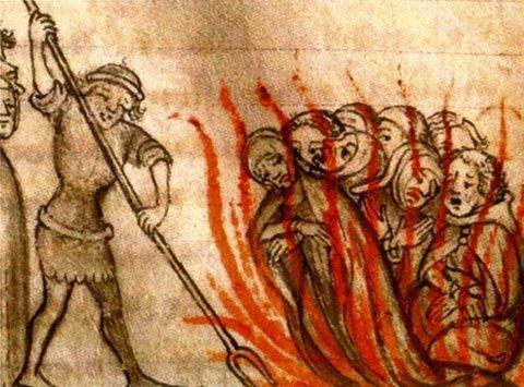 KJETTERBÅL: Kong Filip den smukke lot alle tempelriddernes ledere arrestere fredag 13. oktober 1307.