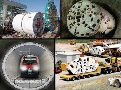TBM: Bruken av tunnelboremaskiner til å lage Follotunnelen gjør det at det trengs et stort område til å lage fyllmassene på.