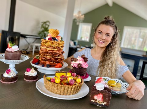 MISS COOKIT: Aina Thorstensen Øksnevad på Skotbu er kjent som miss Cookit på Instagram og følges av over 6000 matinteresserte.