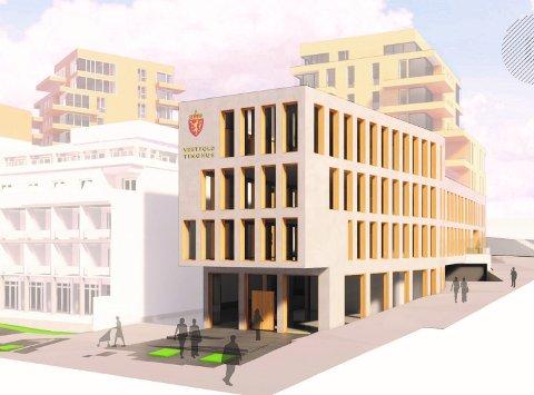 TINGRETTEN I GRANDKVARTALET: Her i det nye Grandkvartalet på Storgata i Larvik kan den nye store tingretten i Vestfold havne hvis Larvik lander kontrakten om å få huse nye Vestfold tingrett.
