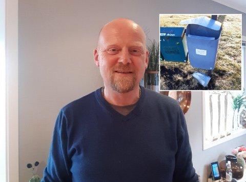 UBEHAGELIG: Knut Ola Brattås synes det er ubehagelig å vite at det gjøres hærverk i området. Denne gangen var han selv rammet. Foto: Privat
