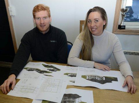 SATSER: Søsknene Malin og Ben Philip Gundersen satser på eiendomsutvikling og leilighetsbygg på Kjellmyra. Og mer kan det bli.