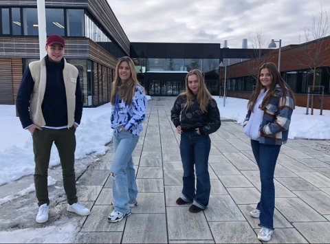 Mathias Norum, Kaisa Strøm, Isa Roll Gulbrandsen og Maren Søyland