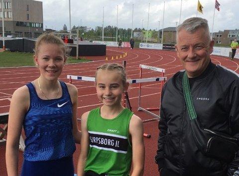 Smilte bredt:Gjert og Ingrid Ingebrigtsen var godt fornøyd med drahjelpen fra Malin Søtorp Solberg (i midten).