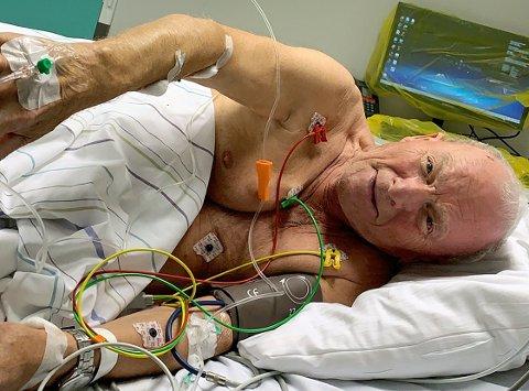 ALVORLIG SYK: På UNN ble det konstatert blodforgifting  og endokarditt, en bakteriebetennelse i årehinnen. Etter flere uker med tung antibiotikabehandling ble den kunstige hjerteklaffen byttet med en ny.