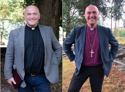 FØR OG NÅ: Biskop Jan Otto Myrset er blitt synlig tynnere siden sist. – Jo da, det er mange som påpeker det, sier han.