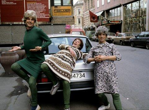 """Prima Vera presenterte sin nye plate, """"De gærne har det godt"""" i 1982. F.v: Tom Mathisen, Herodes Falsk og Jahn Teigen."""