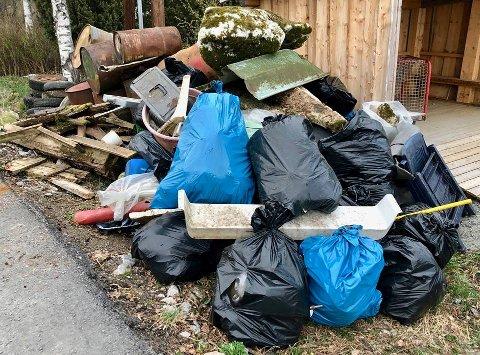 ALDRI SETT SÅ MYE: Rekordmye søppel ble dratt opp av Øyeren - og det på kun to timer.