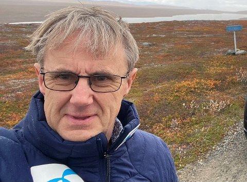Dekningsdirektør i Telenor, Bjørn Amundsen vil ikke gi noe tidspunkt på når halvøya får 5G-dekning.