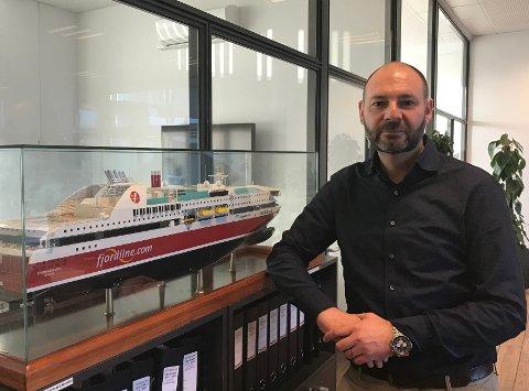 NYANSETTELSE: Claus Riis skal blant annet jobbe med å optimalisere utnyttelsen av bildekk på Fjord Lines båter. (Pressefoto)