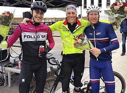 SEIERSTRIO: Spydebergingen Atle Thoresen (t.h.) sammen med Jo Nordskar og Johan N. Nossen som tok delt seier med. FOTO: PRIVAT