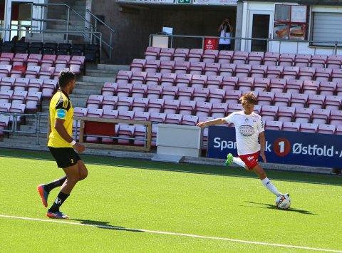 TALENTFULL: Thomas Rekdal startet fotballkarrieren i Hobøl IL. Her for Fredrikstad.