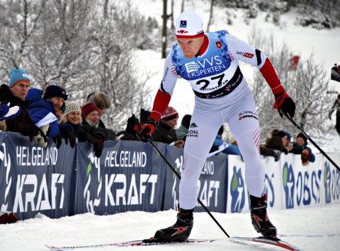 Lars Hol Moholdt måtte bryte på sprinten lørdag.
