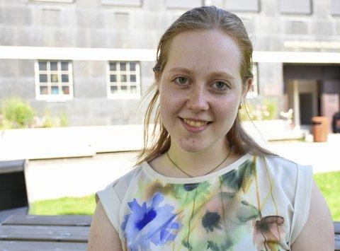 Sommerjournalist: Miriam Alsvik, litt nordmøring fra Trøndelag, har sommerjobb i Tidens Krav.
