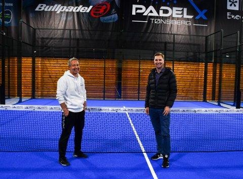 NY MANN: Tom Erik Baglo (t.v.) blir den sportslige lederen for Padel X, som Thomas Udness er en av fire menn som står bak.