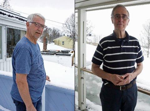 Tore Olsen og Øyvind Nordal er naboer i Sjømannsbyen. De har begge klaget på nybygget som er planlagt i Winston Churchillsveg 13. Nå har de fått gehør.