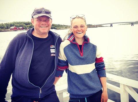 Sten Ihlebakke og Ellin Ellingsvik Vegerstøl er et godt team, men ikke et team for livet, i følge Elin. Nå har de to kommet halvveis på vei mot målet sitt i NK-18.