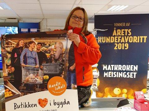 """Feirer: Jeanne Hoseth Rosvold ved Matkroken Meisingset inviterer til stor feiring av """"Handle lokalt""""-dagen. Foto: Privat"""