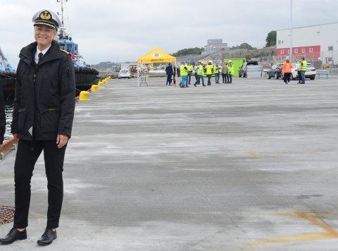 Kaier: – Havneutvikling viser at trenden i regioen er positiv, sier havnedirektør Merete Eik, her i Mekjarvik der 100 meter ny kai ble offisielt åpnet 20. juni i år.