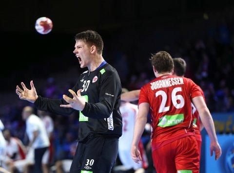 Torbjørn Bergerud var storfornøyd med lagkameratenes forsvarsspill da Norge vant åpningskampen i håndball-VM.
