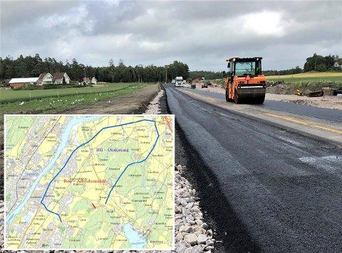 Mens veiprosjektet med Haldenveien fortsetter, stenges både den og Borgeveien fra torsdag. Omkjøringen blir via Årum.
