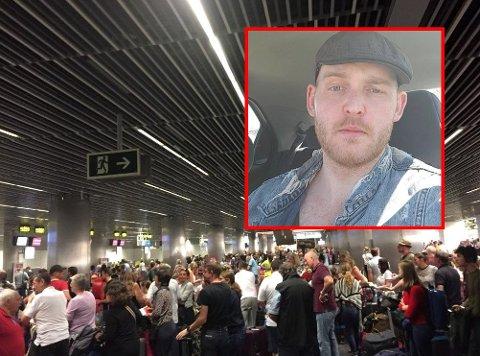 Pål Wergeland og familien har sittet værfaste på Gran Canaria de siste dagene. – Nå begynner vi å bli lei, sier han til FB mandag morgen.