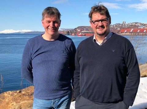 Styreleder i Agenda Per Storlien (til venstre) og administrerende direktør Espen Lund