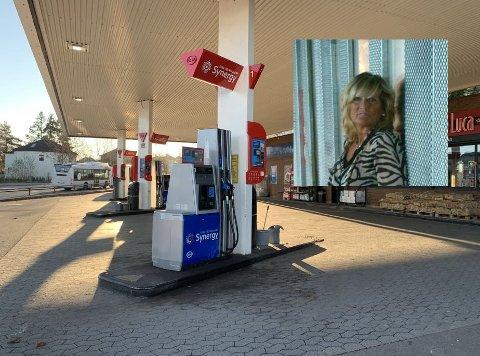 BLE TRUKKET 3.000 KRONER: Det var da Helene Solberg Øiseth brukte en av disse pumpeautomatene at pengereservasjonen ble gjort.
