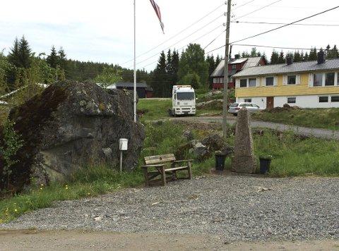 Skaper reaksjoner: Slik ser det ut ved bautaen på Jerpset i Eidskog, noe som har fått Jorunn Engen til å reagere.