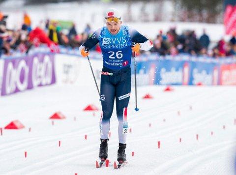 Håvard Solås Taugbøl spurtet Lillehammer inn til sølv på dagens stafett. Her ett bilde fra 30 km klassisk på ski på Konnerud.