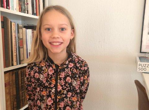RØRER MANGE: Lilly Kilde Aarebrot (10) sendte en melding til Oslo kommune som fikk flere til å trekke varmt på smilebåndet.