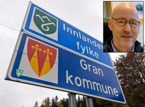 URO: Rådmann Torbjørn Hansen i Gran kommune kjenner på en uro rundt fylkesgrensen mellom Gran og Lunner.