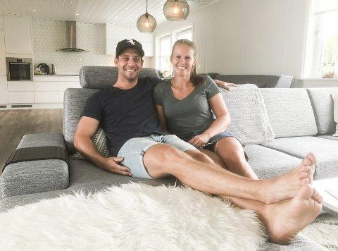 Nytt hus: Martine Moen skal spille for Fredrikstad, men har kjøpt hus med kjæresten Thomas i Halden.Alle foto: Atle Wester Larsen