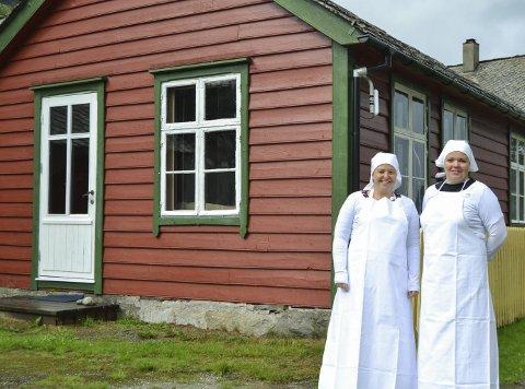 Bakstekjerringer: Ragnhild Opedal Tveit og Kari Sekse har starta med sal av tradisjonsbakst. Foto: Mari Hansen