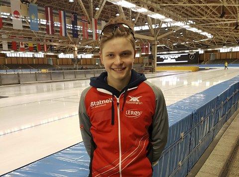 Sondre Buer Åsebø: 16-åringen imponerte under NM på Hamar sist helg.arkivfoto: Privat